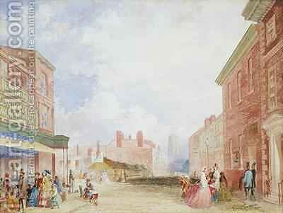 View of Kirkgate Leeds by Isaac Fountain - Reproduction Oil Painting