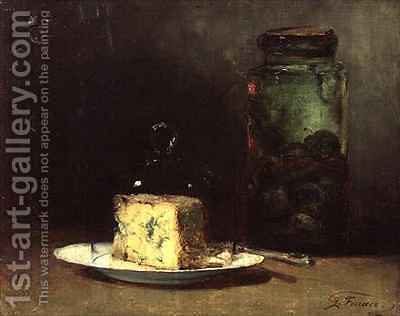 Still Life with Cheese by Guillaume-Romain Fouace - Reproduction Oil Painting