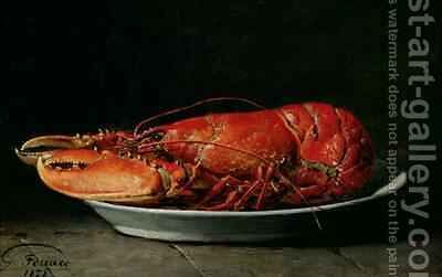 Lobster by Guillaume-Romain Fouace - Reproduction Oil Painting