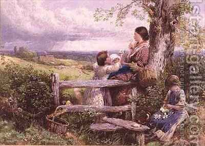 The Rustic Stile by (after) Foster, Myles Birket - Reproduction Oil Painting