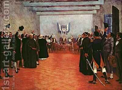 The Congress of Tucuman  Declaration of the Independence of the United Provinces of Rio and the Plata by (after) Fortuny, Francisco - Reproduction Oil Painting