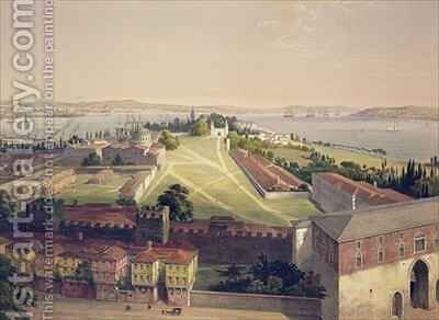 Panorama of Constantinople by (after) Fossati, Gaspard - Reproduction Oil Painting