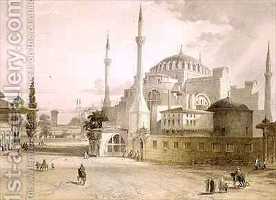 Haghia Sophia plate 17 exterior view of the mosque by (after) Fossati, Gaspard - Reproduction Oil Painting