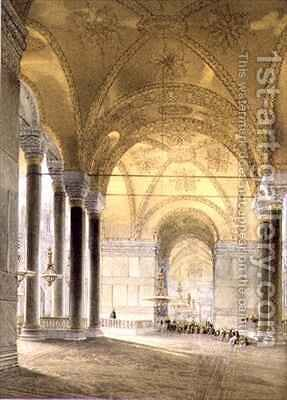 Haghia Sophia plate 7 entrance to the nave by (after) Fossati, Gaspard - Reproduction Oil Painting