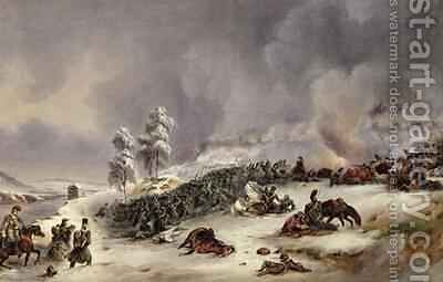 Battle of Krasnoi by Jean Antoine Simeon Fort - Reproduction Oil Painting