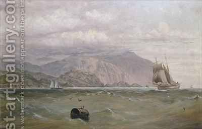 Southslack Lighthouse Tasmania by Capt. John Haughton Forrest - Reproduction Oil Painting