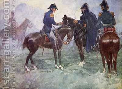 Not till after the battle did Blucher and Wellington meet by A.S. Forrest - Reproduction Oil Painting