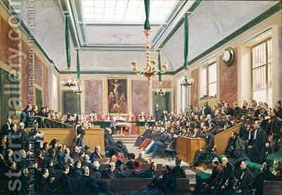 The High Court of Justice at Versailles by Edme Adolphe Fontaine - Reproduction Oil Painting