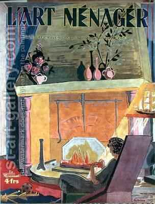 Cover of the magazine LArt Menager by Anne-Marie Fontaine - Reproduction Oil Painting