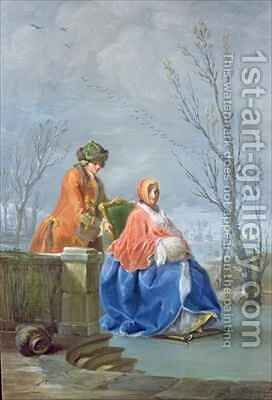 Winter by Charles-Joseph Flipart - Reproduction Oil Painting
