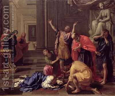 The Death of Lucretia by Bertholet Flemal - Reproduction Oil Painting