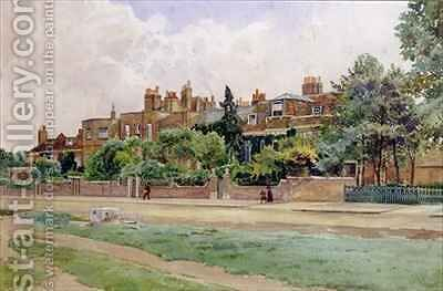 Wrens and Faradays houses at Hampton Court by E.H. Fitchew - Reproduction Oil Painting