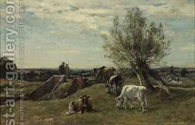 Landscape and Cattle by Mark Fisher - Reproduction Oil Painting
