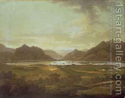 View of the Lakes and Mountains of Killarney Ireland by (attr.to) Fisher, Jonathan - Reproduction Oil Painting