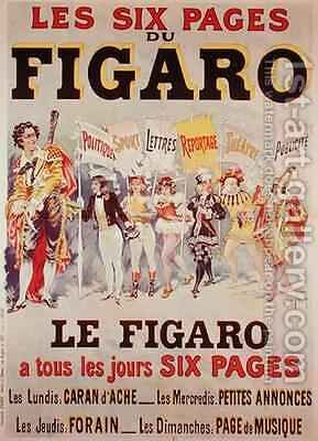 Advertisement for Le Figaro by Harry Finney - Reproduction Oil Painting