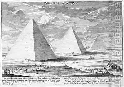 The Pyramids of Egypt by (after) Fischer von Erlach, Johann Bernhard - Reproduction Oil Painting