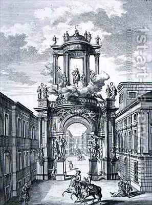 Triumphal Arch Vienna by (after) Fischer von Erlach, Johann Bernhard - Reproduction Oil Painting