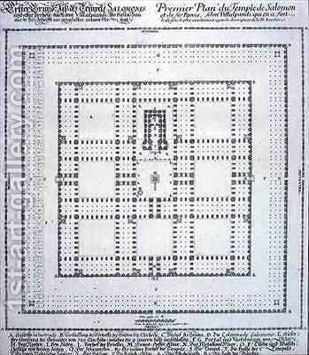 Plan of the Temple of Solomon Jerusalem by (after) Fischer von Erlach, Johann Bernhard - Reproduction Oil Painting