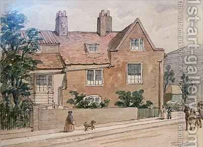 Old Houses at Kennington Green by J. Findley - Reproduction Oil Painting