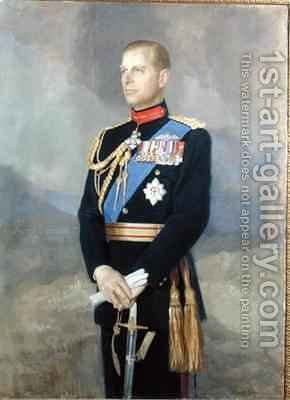 HRH The Prince Philip by Denis Quinton Fildes - Reproduction Oil Painting