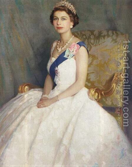Queen Elizabeth II by Denis Quinton Fildes - Reproduction Oil Painting