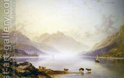 Loch Lomond at Dawn by Anthony Vandyke Copley Fielding - Reproduction Oil Painting