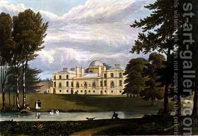 Chiswick House by (after) Fielding, A.V. Copley - Reproduction Oil Painting