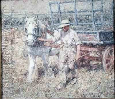 The Ploughman by Harry Fidler - Reproduction Oil Painting