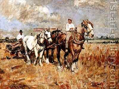 The Plough by Harry Fidler - Reproduction Oil Painting