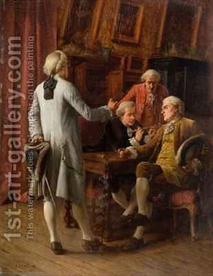 The Connoisseurs by Benjamin Eugene Fichel - Reproduction Oil Painting