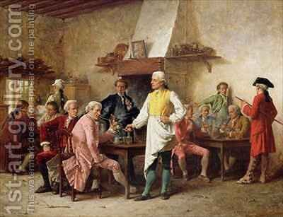 A Gentlemans Debate by Benjamin Eugene Fichel - Reproduction Oil Painting