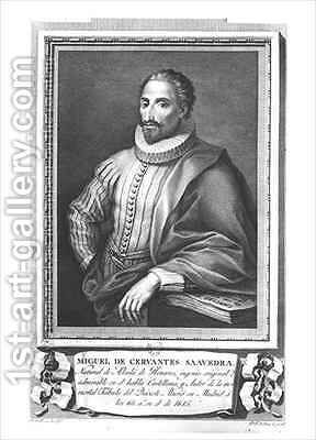 Portrait of Miguel de Cervantes Saavedra by Gregorio Ferro - Reproduction Oil Painting