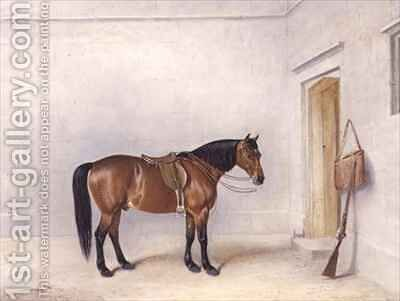Saddled Bay Shooting Pony by Claude L. Ferneley - Reproduction Oil Painting
