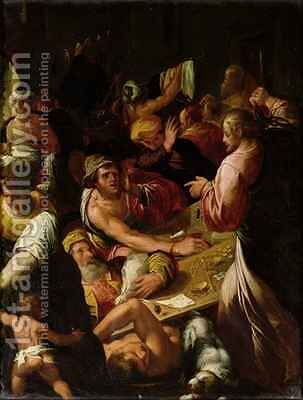 Jesus Chasing the Merchants out of the Temple by Alessandro di Vincenzio Fei - Reproduction Oil Painting