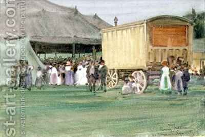 The Circus at Rye by Arthur Romilly Fedden - Reproduction Oil Painting