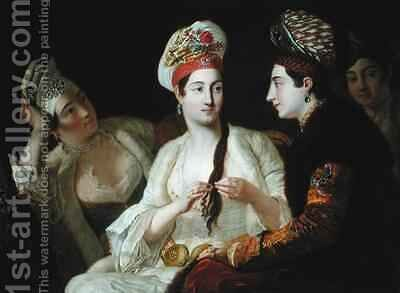 Turkish Women by Antoine de Favray - Reproduction Oil Painting