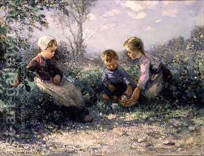 The Picnic by James Faulds - Reproduction Oil Painting