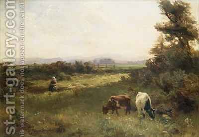 A Summers afternoon near Blairgowrie by David Farquharson - Reproduction Oil Painting