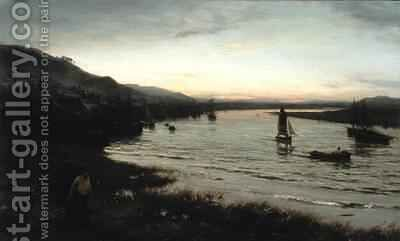 Newburgh on Tay by David Farquharson - Reproduction Oil Painting