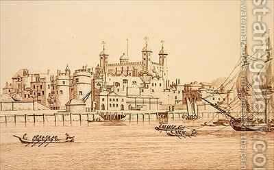 South View of the Tower of London by (after) Farington, Joseph - Reproduction Oil Painting
