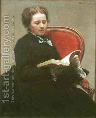 Victoria Dubourg 1840-1926 by Ignace Henri Jean Fantin-Latour - Reproduction Oil Painting