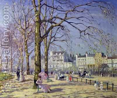 Spring in Hyde Park by Alice Taite Fanner - Reproduction Oil Painting