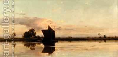 Evening on the Yare by Edward Henry Fahey - Reproduction Oil Painting