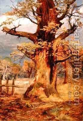 Blasted Oak Galloway by James Jnr Faed - Reproduction Oil Painting