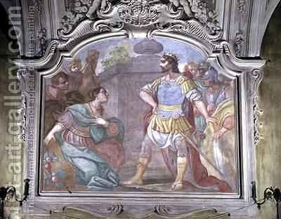 Esther Intercedes with King Ahasuerus by Diacinto Fabbroni - Reproduction Oil Painting