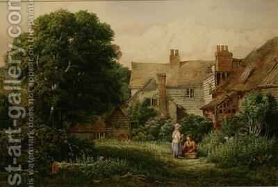 Old House at Hendon by Bernard Walter Evans - Reproduction Oil Painting