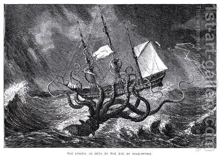 The Kraken as Seen by the Eye of Imagination by Edward Etherington - Reproduction Oil Painting