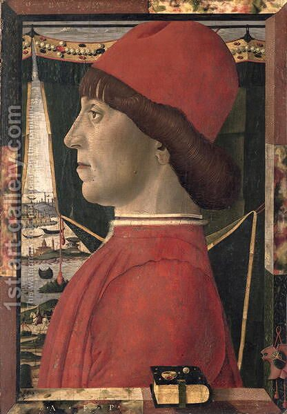 Portrait of a Young Man by Baldassare d' Este - Reproduction Oil Painting