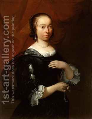 Portrait of a Lady by Jacob Esselens - Reproduction Oil Painting