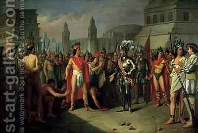 The Imprisonment of Guatimocin by the Troops of Hernan Cortes by Carlos Maria Esquivel - Reproduction Oil Painting